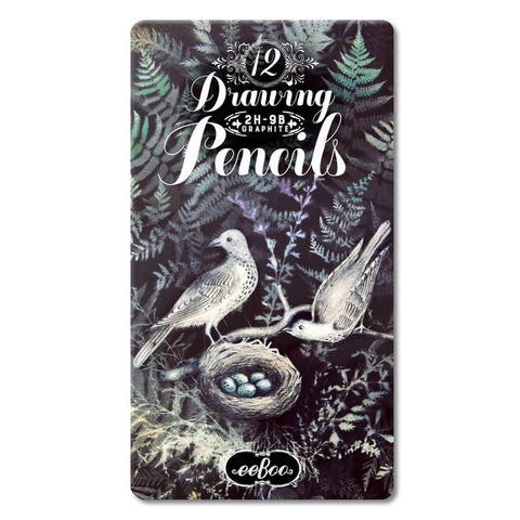 eeboo-doves-in-ferns-12-drawing-pencils-tin- (1)