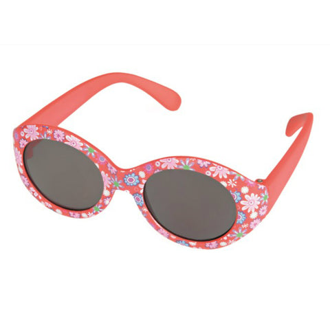 Red with Flowers Baby Sunglasses