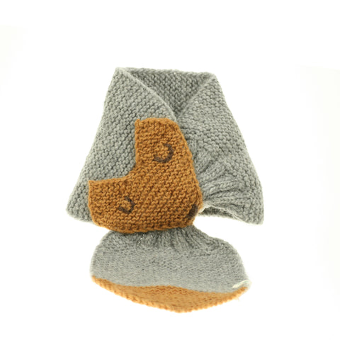 Lullaby Road Fox Scarf Grey