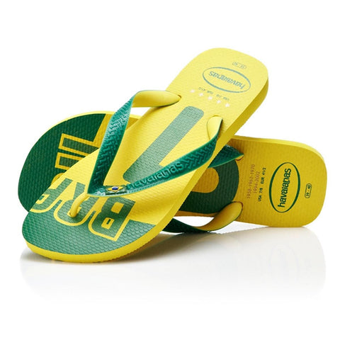 Havaianas Team Brasil Citrus Yellow Flip Flops