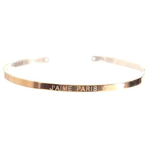 Paloma Stella Gold Bangle - J'aime Paris
