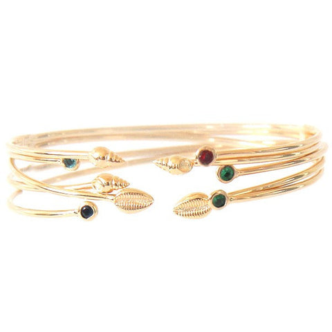 Paloma Stella Shell Stone Constellation Bangle