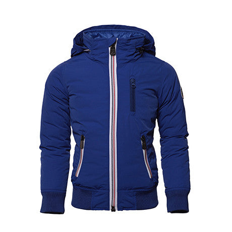 JOTT Curtis Water-Repellent Zipped Windbreaker Integrated Hood Bleu Roi