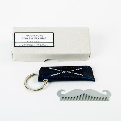 mens-society-moustache-shaped-comb-key-ring-with-leather-case-accessory-m2112-01