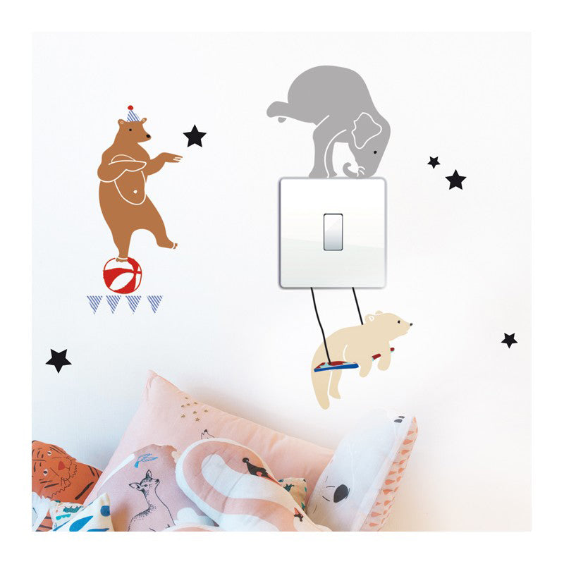 MIMI'lou Just A Touch Wall Sticker - Circus On Light