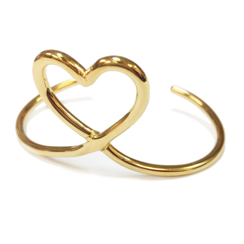 Mimilamour Mon Coeur Adjustable Gold Bangle