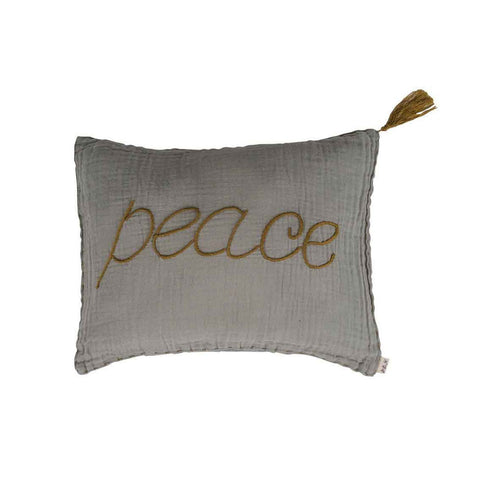 Numero 74 Cushion Cover Message Pastel Silver Grey Peace