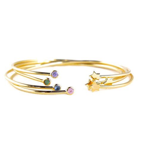 Paloma Stella Star Stone Constellation Bangle