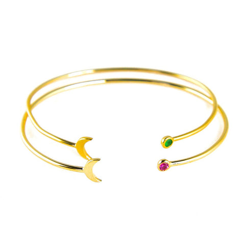 Paloma Stella Moon Stone Constellation Bangle