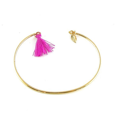 Paloma Stella Charm and Tassel Bangle