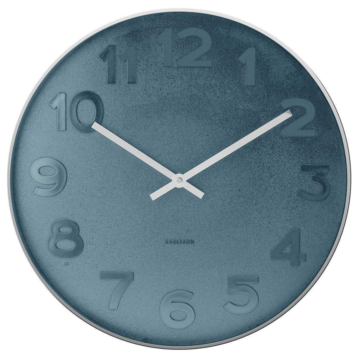 Present time wall clock mr blue numbers steel polished petit bazaar present time wall clock mr blue numbers steel amipublicfo Image collections