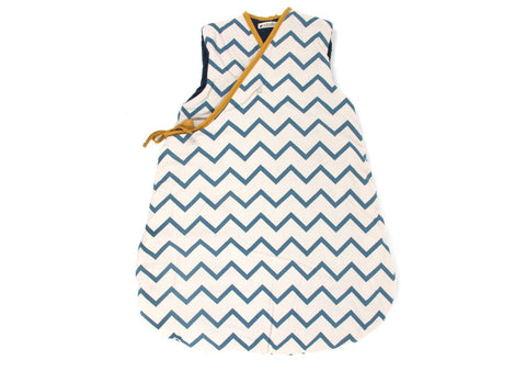 Nobodinoz Sleeping Bag Blue Zigzag