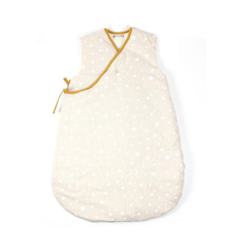 Nobodinoz Sleeping Bag Sand White Stars