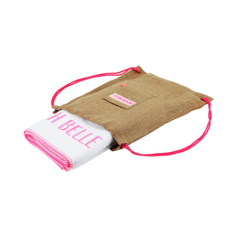 sunuva-pink-towel-with-jute-bag-accessory-kid-girl-sunu-s6447-03