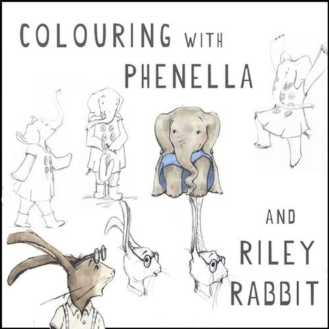 The Book Jar Colouring with Phenella and Riley Rabbit