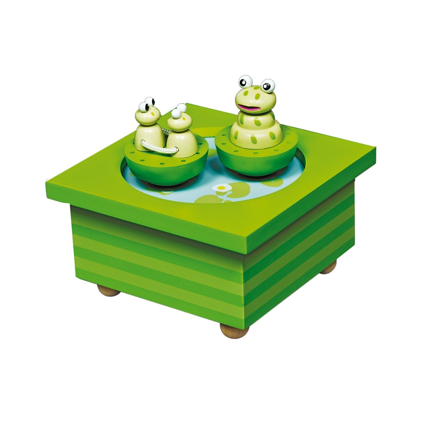 Trousselier Frog Musical Wooden Box