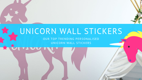 Buy Personalised Unicorn Wall Stickers UK