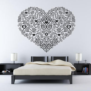 Decorative Heart Wall Art Sticker (AS10004) - Apex Stickers
