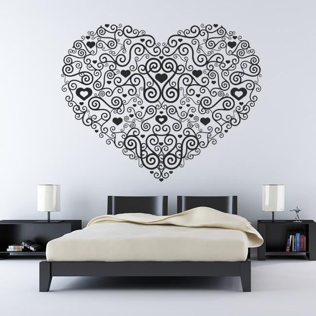 Decorative Heart Wall Art Sticker - Apex Stickers