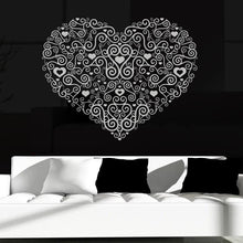 Load image into Gallery viewer, Decorative Heart Wall Art Sticker - Apex Stickers