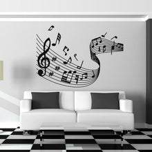 Load image into Gallery viewer, Musical Notes Wave Wall Art Sticker - Apex Stickers