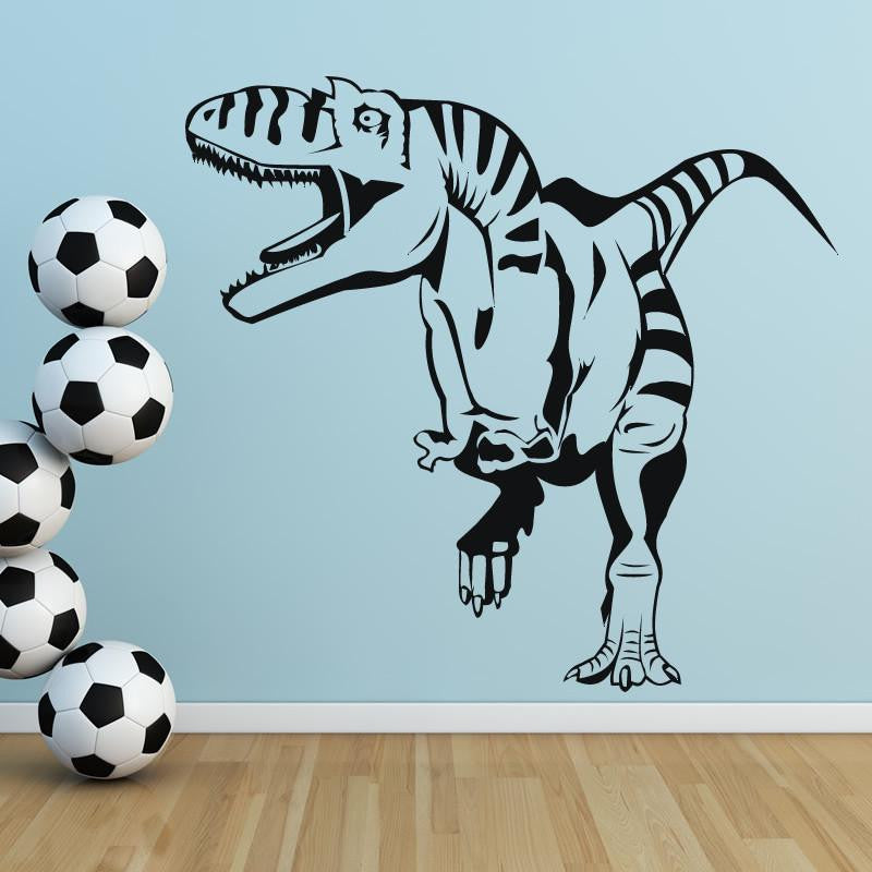 Roaring T-Rex Dinosaur Wall Art Sticker (AS10006) - Apex Stickers