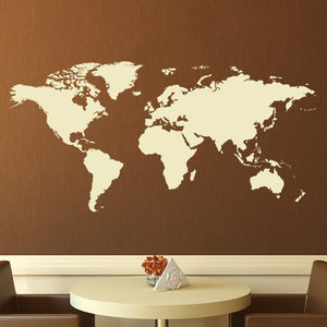 Map of the World Wall Art Sticker (AS10009) - Apex Stickers