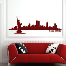 Load image into Gallery viewer, New York Skyline with text Wall Art Sticker - Apex Stickers