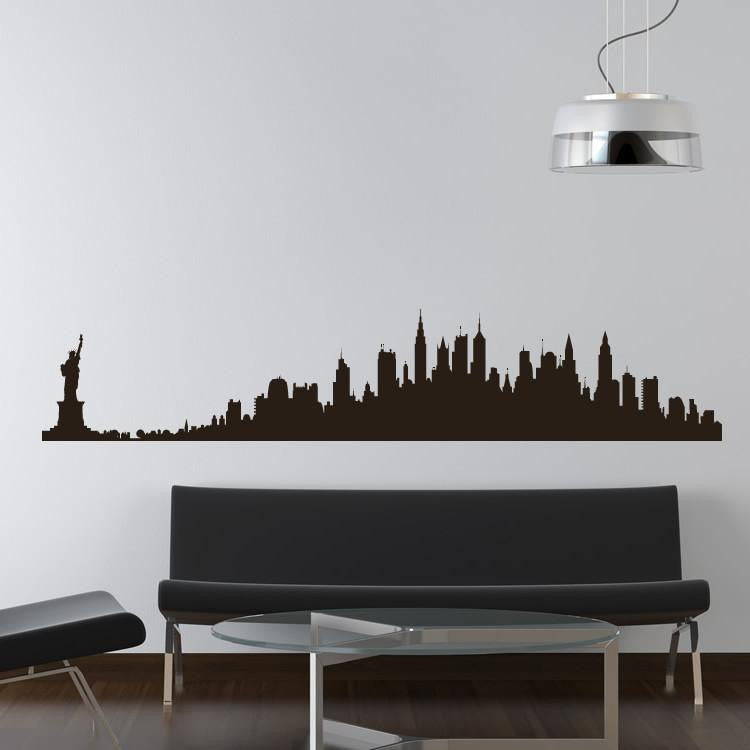 New York Skyline Wall Art Sticker (AS10012) - Apex Stickers