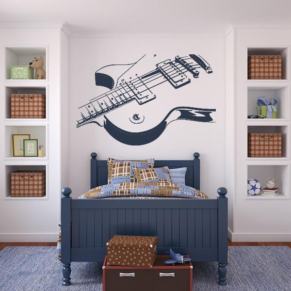 Les Paul Electric Guitar Wall Art Sticker (AS10013) - Apex Stickers