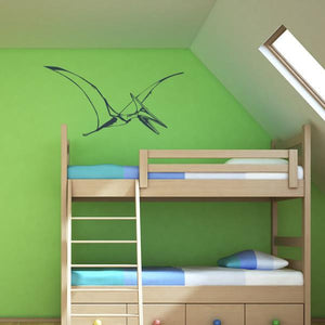 Flying Pterodactyl Wall Art Sticker - Apex Stickers