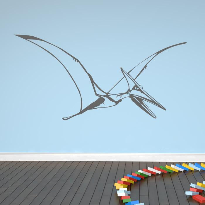 Flying Pterodactyl Wall Art Sticker (AS10015) - Apex Stickers