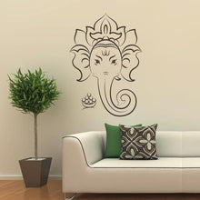 Load image into Gallery viewer, Ganesha Elephant Head Wall Art Sticker - Apex Stickers