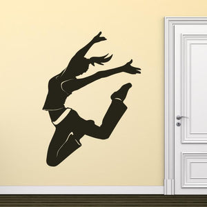 Dancer Springing Wall Art Sticker (AS10018) - Apex Stickers