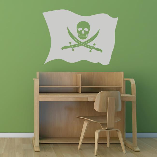 Pirate Flag Jolly Roger Wall Art Sticker - Apex Stickers