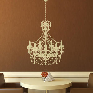 Old Fashioned Chandelier Wall Art Sticker (AS10020) - Apex Stickers