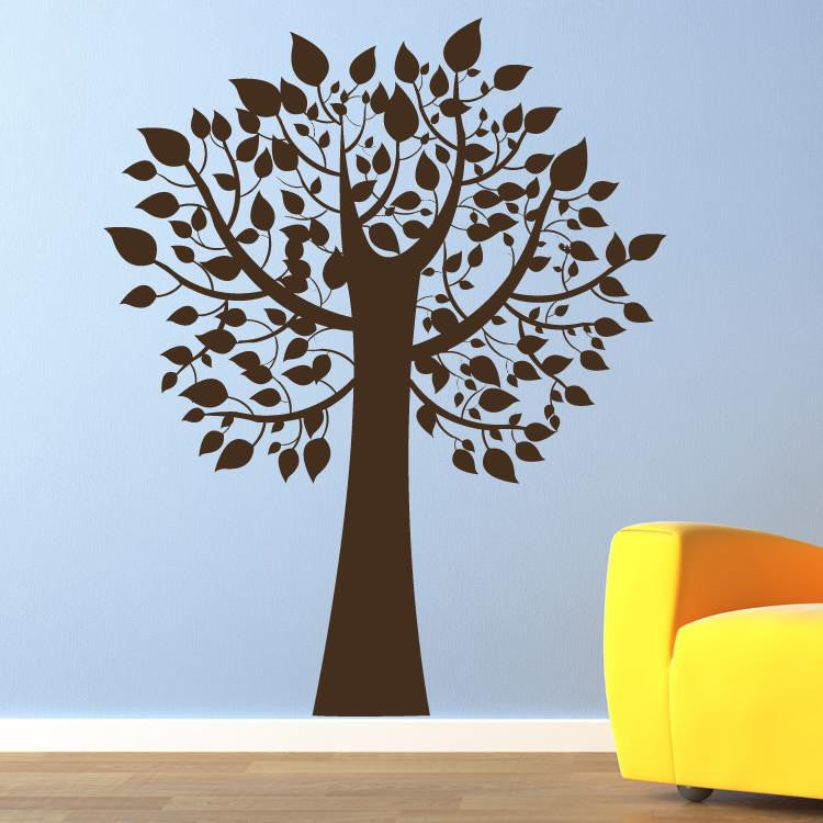 Tree with Leaves Wall Art Sticker - Apex Stickers