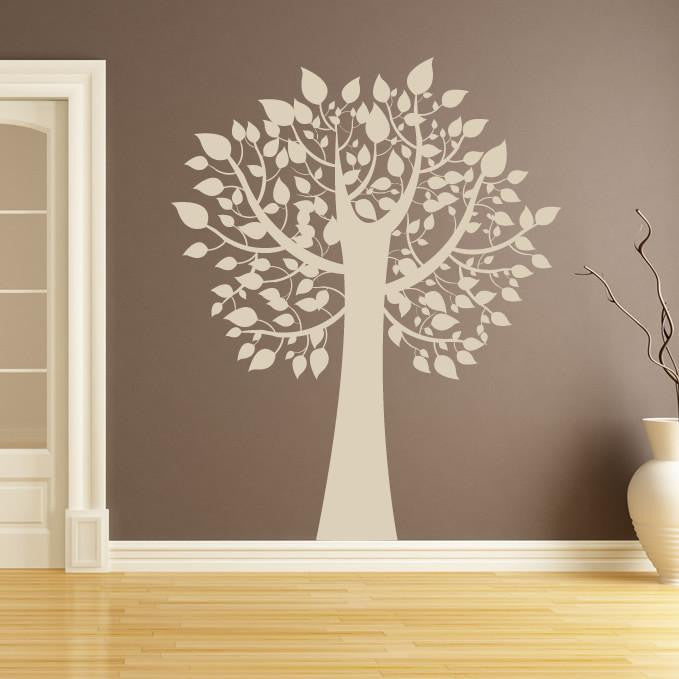 Tree with Leaves Wall Art Sticker (AS10023) - Apex Stickers
