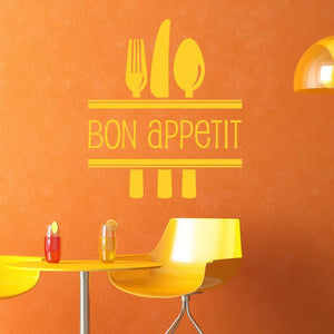Bon Appetit Wall Art Sticker (AS10025) - Apex Stickers