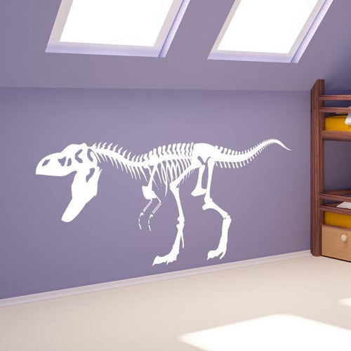 T-Rex Dinosaur Skeleton Wall Sticker - Apex Stickers