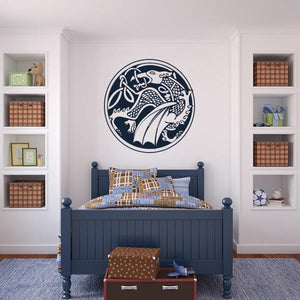 Celtic Dragon Wall Art Sticker - Apex Stickers