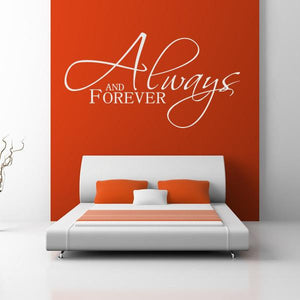 Always and Forever Wall Art Sticker (AS10030) - Apex Stickers