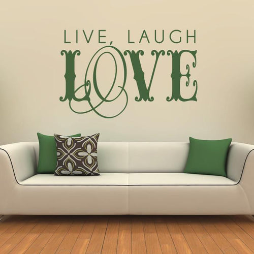 Live laugh love Wall Art Sticker - Apex Stickers