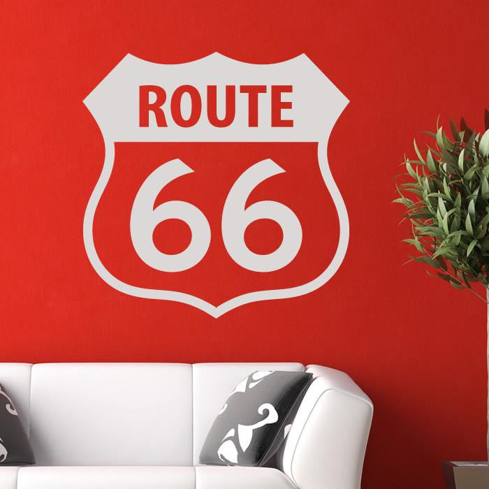 Route 66 Sign Wall Art Sticker - Apex Stickers