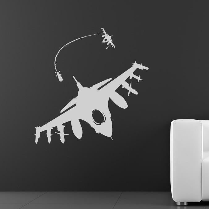 Fighter Jets Wall Art Sticker (AS10038) - Apex Stickers