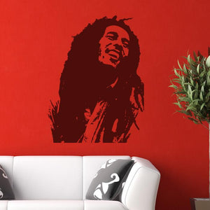 Bob Marley Wall Art Sticker - Apex Stickers