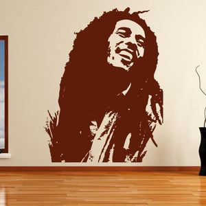 Bob Marley Wall Art Sticker (AS10041) - Apex Stickers