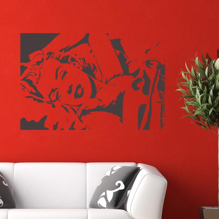 Marilyn Monroe Reclining Wall Art Sticker - Apex Stickers