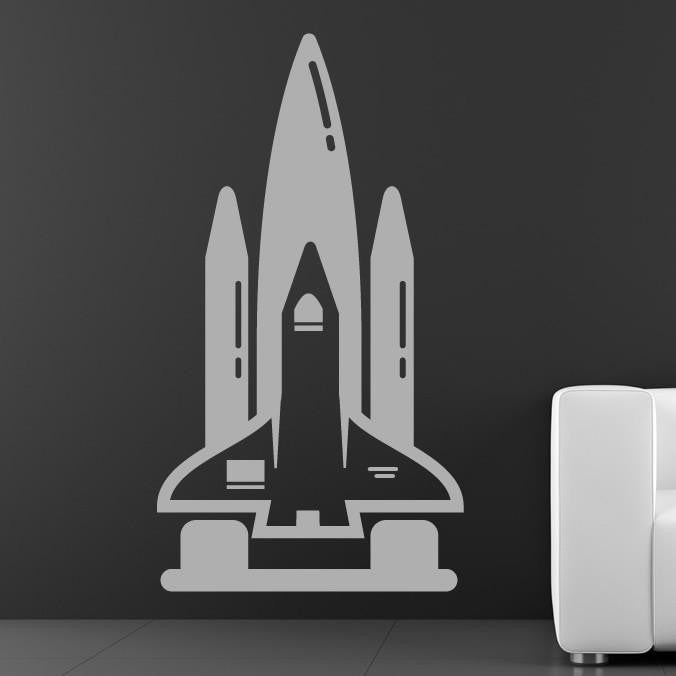 Space Shuttle Wall Art Sticker (AS10045) - Apex Stickers