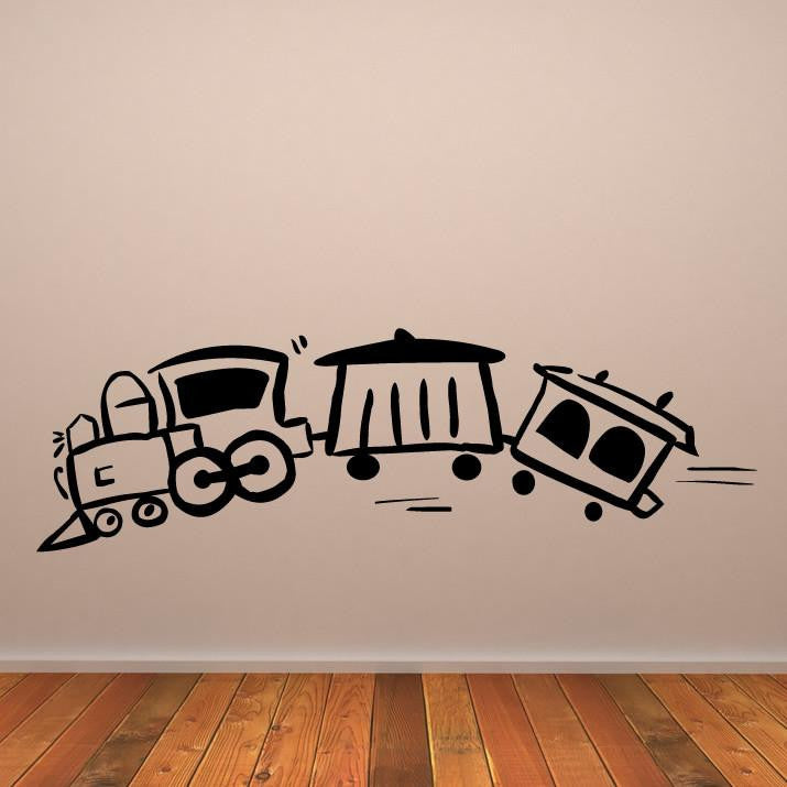 Childs Train Wall Art Sticker (AS10046) - Apex Stickers